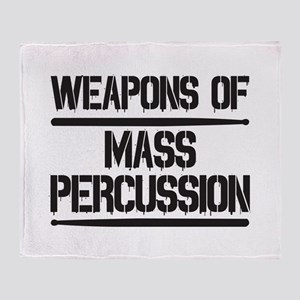 Weapons of Mass Percussion Throw Blanket